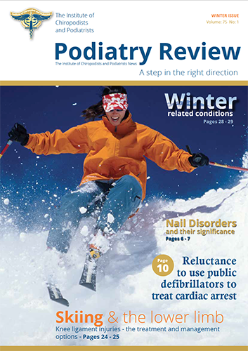 Podiatry Review front cover s-g